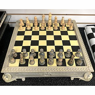 Chess Set: 18 inch Greek Set with Drawer