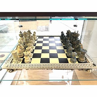 Chess Set: 18 inch Greek Set