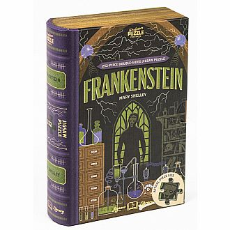 Frankenstein Book Jigsaw double sided