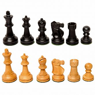 "Chessmen: Black Boxwood 3.75"" King Weighted Felted"