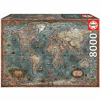 HISTORICAL WORLD MAP (Educa 8000 pcs)