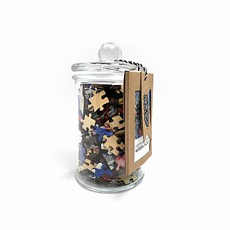 Floral Table Cover in Glass Jar