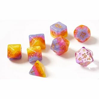 Tahitian Sunset Polyhedral Set 7 dice