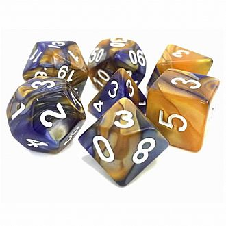 Midnight Sun Fusion 7 Polyhedral dice Set