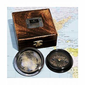 Pirate's Compass with wood box