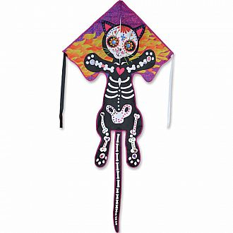 Day of the Dead Cat Kite Large Easy Flier
