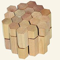 10 piece wooden Honeycomb