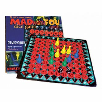 Mad Math Dice Game with Reversible Board