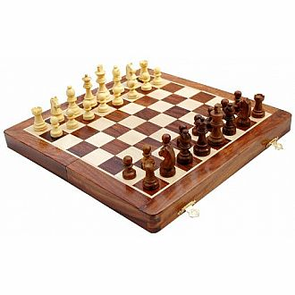 "Chess Set: 10"" Folding Wood"