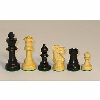 "Chessmen: 3"" Black/Natural"