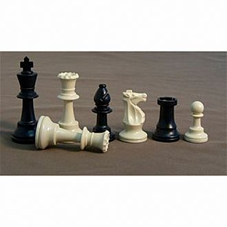"Chessmen: 3.75"" Plastic"