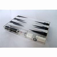 "18"" Lucite Clear Backgammon Set"