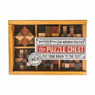 The Puzzle Chest: Six Wooden Puzzles