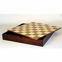 13.5 Walnut Maple Chess Chest