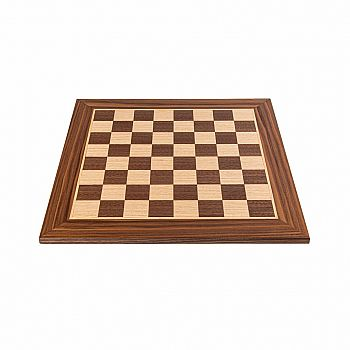 Chess Board: 16 Walnut Oak