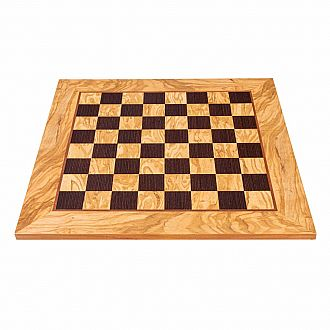 Chess Board: 19.5 Olive woodWenge