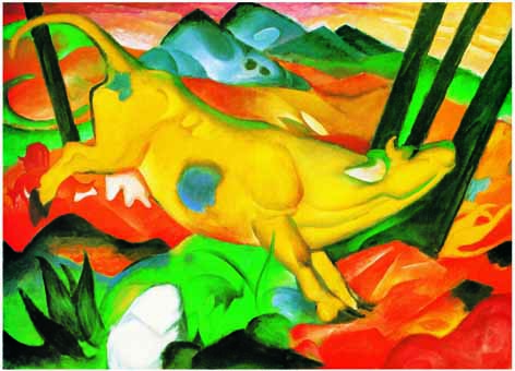 Yellow Cow, Franz Marc (Ricordi Jigsaw - 1000pc)