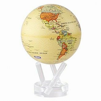 "4.5"" MOVA Political Yellow Globe"