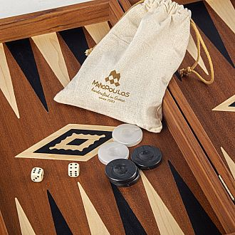 "MAHOGANY 19""  Backgammon"