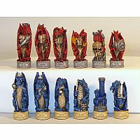 Justice Dragon Resin Chessmen
